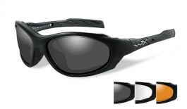 Wiley X XL-1 Advanced Sunglasses - Matte Black / Smoke Grey + Clear + Light Rust