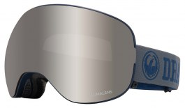 Dragon X2 Ski Goggles - Collegiate / Lumalens Silver Ion + Lumalens Flash Blue