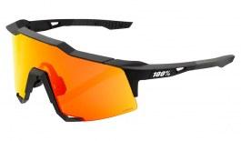 100% Speedcraft Sunglasses - Soft Tact Black / HiPER Red Multilayer Mirror + Clear