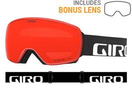 Giro Agent Prescription Ski Goggles - Black Wordmark / Vivid Ember + Vivid Infrared
