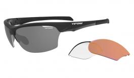 Tifosi Intense Sunglasses - Matte Black / AC Red + Clear + Smoke