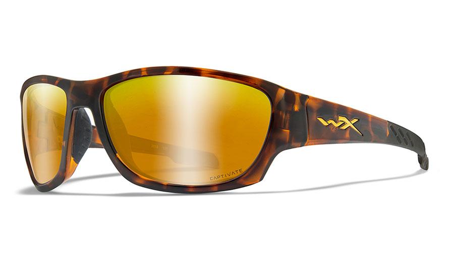 Wiley X Climb Sunglasses - Gloss Tortoise / Captivate Bronze Mirror Polarised