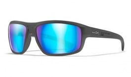 Wiley X Contend Sunglasses - Matte Graphite / Captivate Blue Mirror Polarised