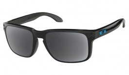 Oakley Holbrook Prescription Sunglasses - Polished Black (Blue Icon)