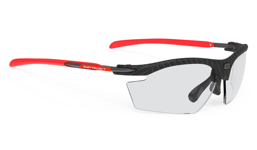 Rudy Project Rydon Prescription Sunglasses - Directly Glazed - Carbonium & Red