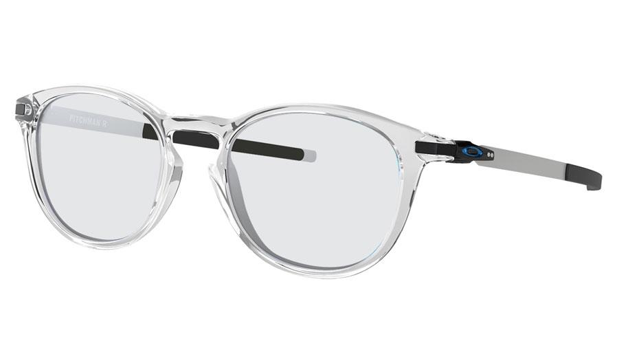 707dd1c8f2 Oakley Pitchman R Prescription Sunglasses - Polished Clear (Blue ...