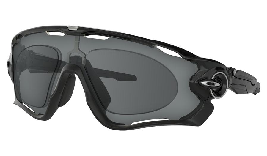 Oakley Jawbreaker Prescription Sunglasses - Polished Black (Satin Chrome Icon)