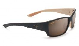 Maui Jim Local Kine Sunglasses - Matte Dark Transparent Brown with Tan and Cream / HCL Bronze Polarised