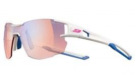 Julbo Aerolite Prescription Sunglasses - Clip-On Insert - Matte White & Blue / Reactiv Performance 1-3 High Contrast Photochromic