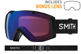 Smith Optics I/O Prescription Ski Goggles - Black / ChromaPop Photochromic Rose Flash + ChromaPop Sun Black