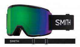 Smith Squad Prescription Ski Goggles - Black / ChromaPop Sun Green Mirror + Yellow