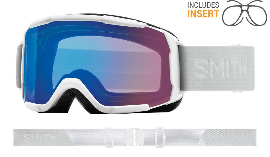Smith Optics Showcase Prescription Ski Goggles - White Vapor / ChromaPop Storm Rose Flash
