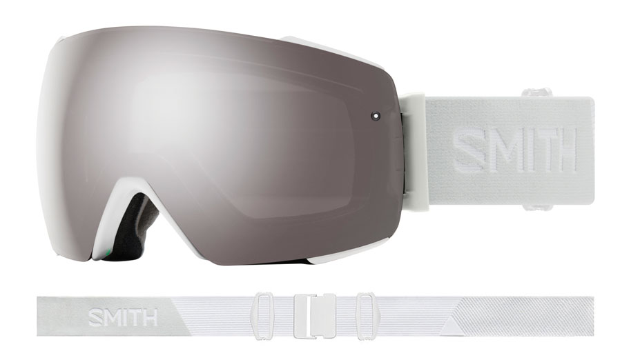 Smith Optics I/O MAG Ski Goggles - White Vapor / ChromaPop Sun Platinum Mirror + ChromaPop Storm Rose Flash