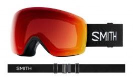 Smith Skyline Ski Goggles - Black / ChromaPop Photochromic Red Mirror