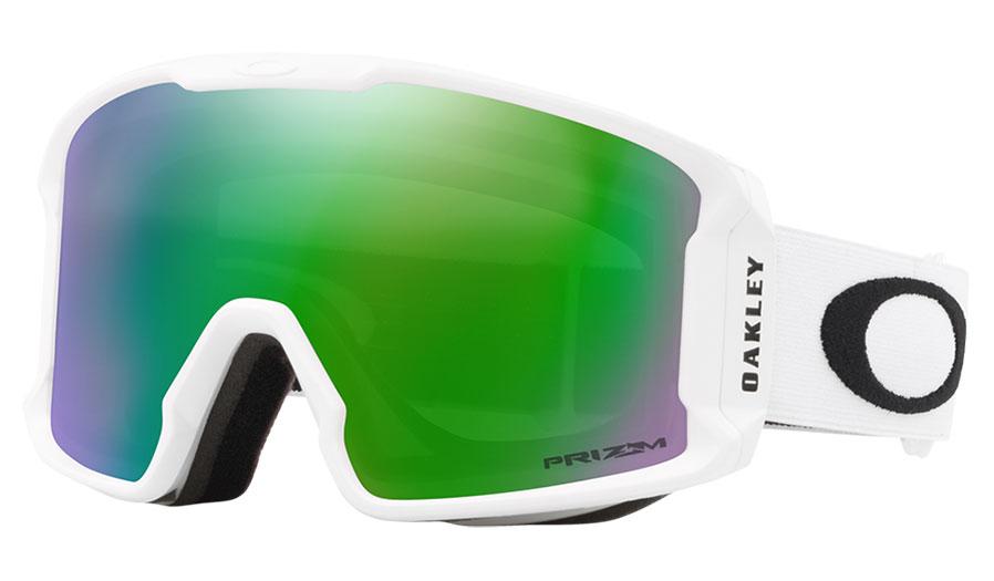 Oakley Line Miner XM Ski Goggles - Matte White / Prizm Jade Iridium
