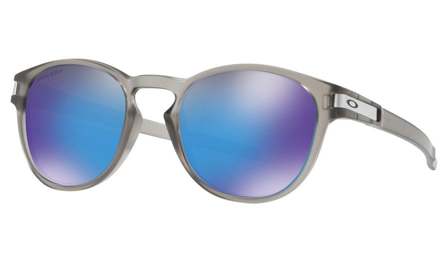 77bed181167 Oakley Latch Sunglasses - Matte Grey Ink   Prizm Sapphire Polarised ...