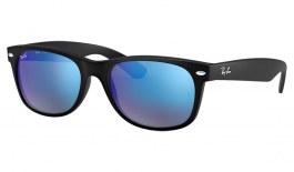 Ray-Ban RB2132 New Wayfarer Sunglasses - Matte Black / Blue Flash