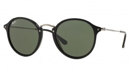 Ray-Ban RB2447 Sunglasses - Black & Silver / Green