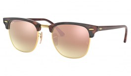 Ray-Ban RB3016 Clubmaster Sunglasses - Red Havana / Copper Gradient Flash