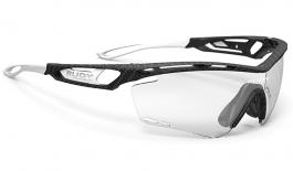 Rudy Project Tralyx Prescription Sunglasses - Clip-On Insert - Carbonium / ImpactX 2 Photochromic Laser Black