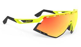 Rudy Project Defender Prescription Sunglasses - Clip-On Insert - Fluo Yellow & Black / Multilaser Orange