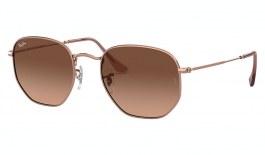 Ray-Ban RB3548N Hexagonal Flat Lens Sunglasses - Copper / Pink Brown Gradient