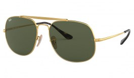 Ray-Ban RB3561 General Sunglasses - Gold / Green