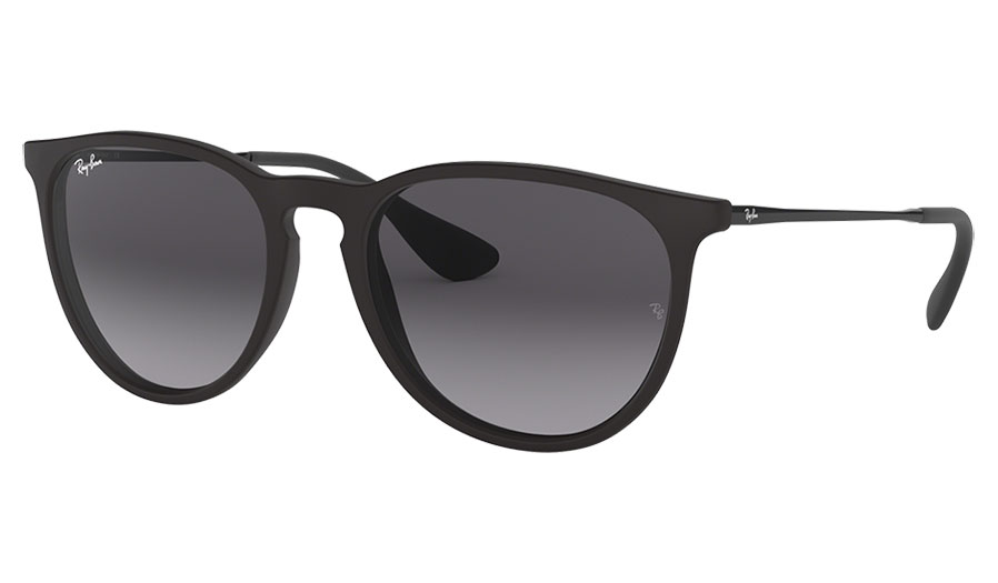 Ray-Ban RB4171 Erika Sunglasses - Black Rubber / Grey Gradient