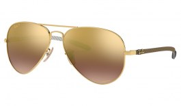 Ray-Ban RB8317CH Chromance Sunglasses - Gold / Purple Mirror Chromance Polarised