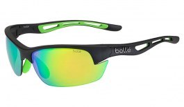 Bolle Bolt S Sunglasses - Matte Black & Green Rubber / Brown Emerald