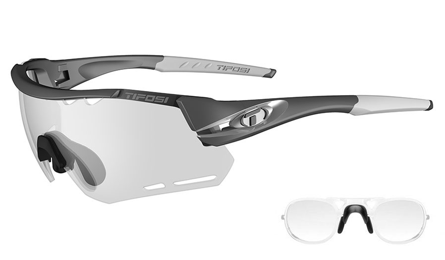 Tifosi Alliant Prescription Sunglasses - Clip-On Insert - Gunmetal / Light Night Fototec