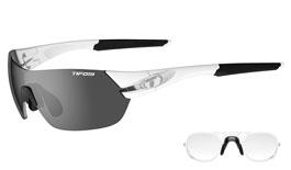 Tifosi Slice Prescription Sunglasses - Matte White / Smoke + AC Red + Clear