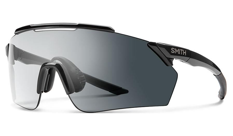 Smith Ruckus Sunglasses - Black / Clear to Grey Photochromic + ChromaPop Contrast Rose