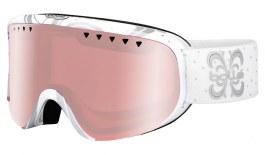 Bolle Scarlett Prescription Ski Goggles - Shiny White Night / Vermillon Gun