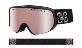Bolle Scarlett Prescription Ski Goggles - Shiny Black Night / Vermillon Gun