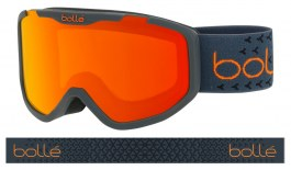 Bolle Rocket Plus Ski Goggles - Matte Dark Grey & Orange / Sunrise