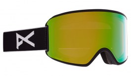 Anon WM3 MFI Ski Goggles - Black / Perceive Variable Green + Perceive Cloudy Pink