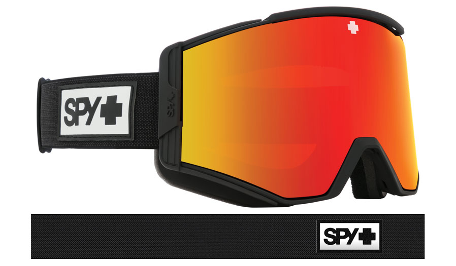 Spy Optic Ace Ski Goggles - Matte Black / HD+ Bronze Red Spectra + HD+ Low Light Yellow Green Spectra