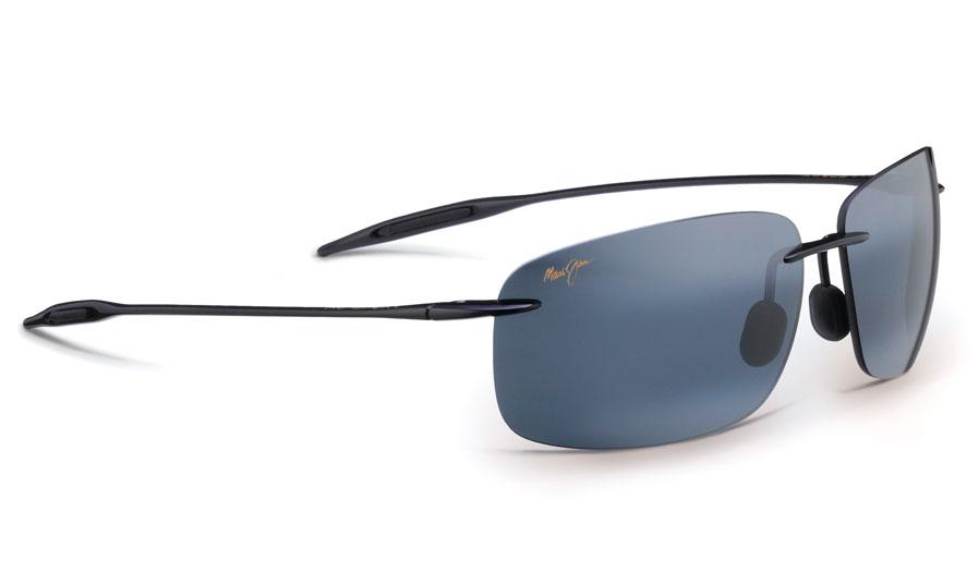 Maui Jim Breakwall Sunglasses - Gloss Black / Neutral Grey Polarised