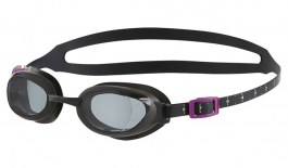 Speedo Aquapure Female Prescription Swimming Goggles - Black / Grey Smoke