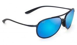 Maui Jim Alelele Bridge Sunglasses - Matte Blue / Blue Hawaii Polarised