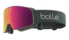 Bolle Nevada Small Ski Goggles - Matte Forest / Volt Ruby