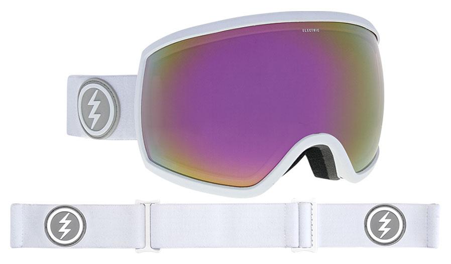 30c66591c91f Electric EGG Ski Goggles. Frame  Matte White. Lens  Brose Pink Chrome