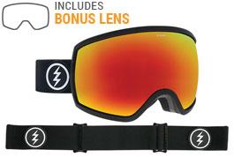 Electric EGG Ski Goggles - Matte Black / Brose Red Chrome + Pink