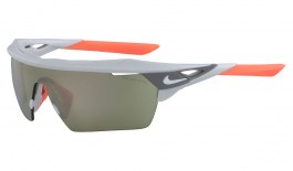 Nike Hyperforce Elite Sunglasses - Matte Pure Platinum / Field Ivory Mirror + Grey