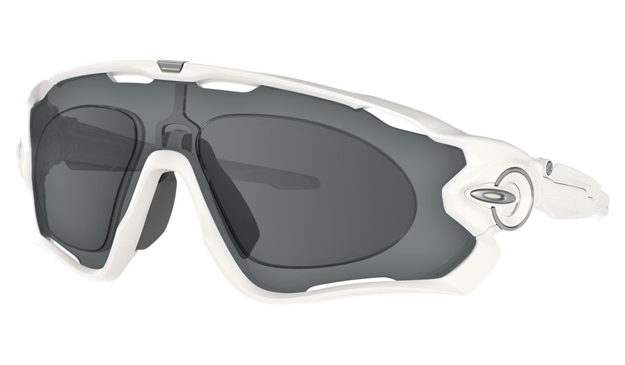 Oakley Jawbreaker Prescription Sunglasses - Polished White (Satin Chrome Icon)