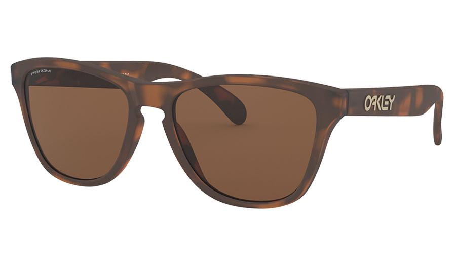 Oakley Frogskins XS Sunglasses - Matte Brown Tortoise / Prizm Tungsten
