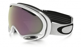 Oakley A Frame 2.0 Ski Goggles - Polished White / Prizm HI Pink Iridium
