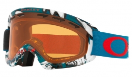 Oakley O Frame 2.0 XS Ski Goggles - Shady Trees Blue Red / Persimmon