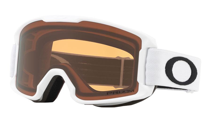 Oakley Line Miner Youth Ski Goggles - Matte White / Prizm Persimmon